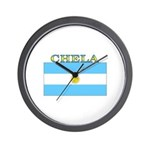 Chela Argentina Flag Wall Clock