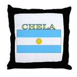 Chela Argentina Flag Throw Pillow