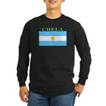 Chela Argentina Flag Long Sleeve Dark T-Shirt