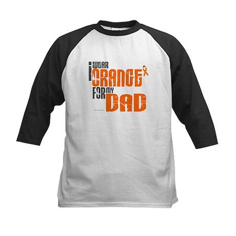I Wear Orange For My Dad 6 Kids Baseball Jersey