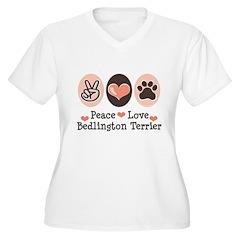 Peace Love Bedlington Women's Plus Size V-Neck T-S