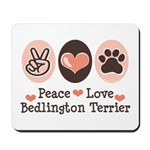Peace Love Bedlington Mousepad