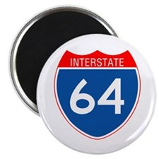 "Interstate 64 2.25"" Magnet (10 pack)"