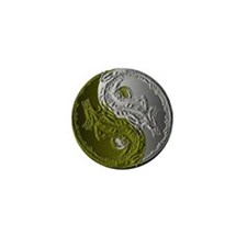 Dragons Yin-Yang Mini Button