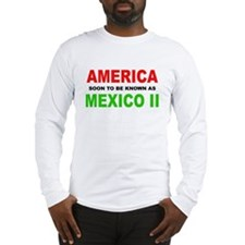 Cute America mexico border Long Sleeve T-Shirt