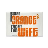 I Wear Orange For My Wife 6 Rectangle Magnet