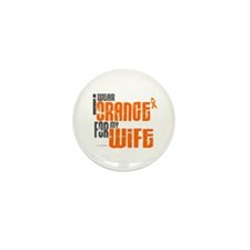 I Wear Orange For My Wife 6 Mini Button (100 pack)