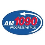 AM1090 Oval Sticker