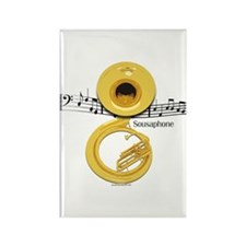 Sousaphone Music Rectangle Magnet (10 pack)