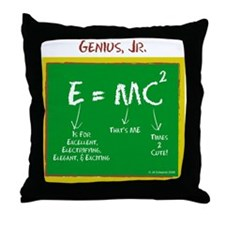 Genius, Jr Throw Pillow
