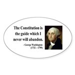 George Washington 4 Oval Sticker