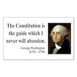 George Washington 4 Rectangle Sticker