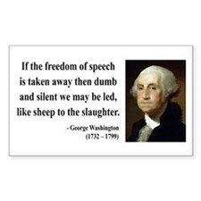 George Washington 3 Rectangle Decal