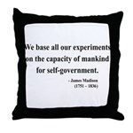 James Madison 15 Throw Pillow