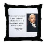 James Madison 9 Throw Pillow