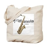 Saxaphone Music Tote Bag