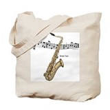 Tenor Sax Music Tote Bag