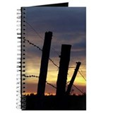Barbwire Fence Sunset Journal