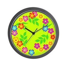 Hawaiian Lei /Hibiscus Flower- Wall Clock
