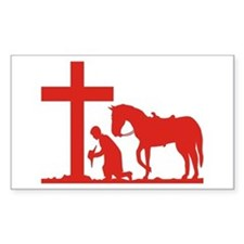 COWBOY PRAYER Rectangle Decal