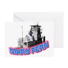 The Mary Fern tugboat Greeting Card