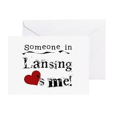Lansing Loves Me Greeting Card