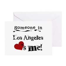 Los Angeles Loves Me Greeting Card