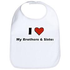 I heart my Brothers & Sister Bib