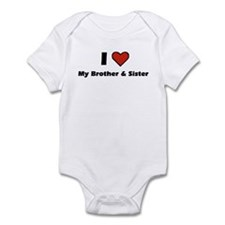 I heart my Brother & Sister Infant Bodysuit