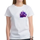 PURPLE ABSTRACT BEAR PAW/PKT Tee