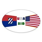 USA 3ID Oval Sticker