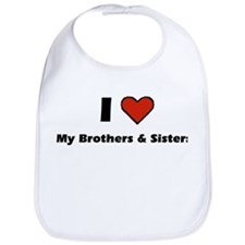 I heart my Brothers & Sisters Bib