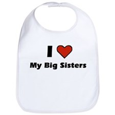 I heart my big Sisters Bib
