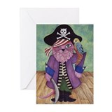 Funny Whimsical cats Greeting Cards (Pk of 10)