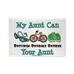 Aunt Triathlete Triathlon Rectangle Magnet (10 pac