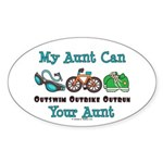 Aunt Triathlete Triathlon Oval Sticker