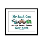 Aunt Triathlete Triathlon Framed Panel Print