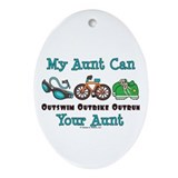 Aunt Triathlete Triathlon Oval Ornament