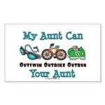 Aunt Triathlete Triathlon Rectangle Sticker