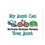 Aunt Triathlete Triathlon Postcards (Package of 8)
