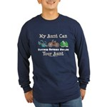 Aunt Triathlete Triathlon Long Sleeve Dark T-Shirt