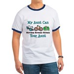 Aunt Triathlete Triathlon Ringer T