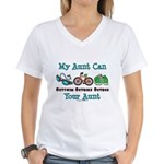 Aunt Triathlete Triathlon Women's V-Neck T-Shirt