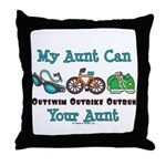 Aunt Triathlete Triathlon Throw Pillow