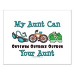 Aunt Triathlete Triathlon Small Poster