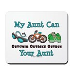 Aunt Triathlete Triathlon Mousepad