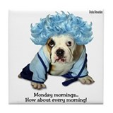 Monday Morning Bulldog Tile Coaster