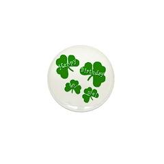 HAPPY BIRTHDAY ME! Shamrocks Mini Button (100 pack