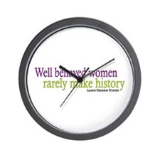 Well Behaved Women Wall Clock