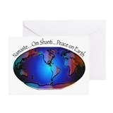 Namaste, Peace on Earth Greeting Cards (Pk of 20)